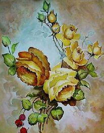 Malerei, Blumen, Gemälde, Stillleben