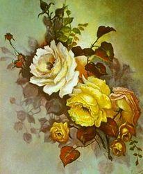 Gemälde, Blumen, Malerei, Stillleben