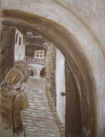 Zeichnungen, Einblick, Innenhof
