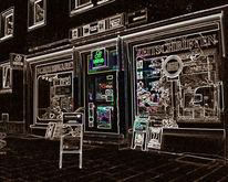 Gebäude, Stadt, Digitale kunst, Architektur