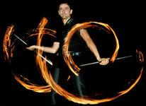 Show, Feuerkünstler, Feuertanz, Hochzeitsfeier