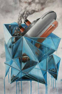 Malerei, Surreal, Katastrophe