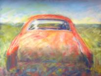 Oldtimer, Rostlaube, Rostiges auto, Oranges auto