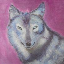 Wolf, Tiere, Pastellmalerei, Wildtier