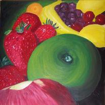 Trauben, Erdbeeren, Zitrone, Kirsche