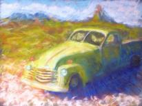 Fahrzeug, Oldtimer, Malerei, Scharf