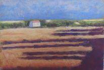 Pastellmalerei, Landschaftsmalerei, Sommer, Dämmerung
