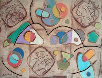 Klee, Modigliani, Cascella, Ölmalerei