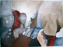 Acrylmalerei, Grau, Umgebung, Kopf