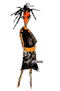 Orange, Zeichnung, Tusche, Zeichnungen