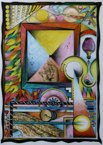 Abstrakt, 1980, Symbolismus, Hand