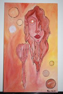 Malerei, Surreal, Hand
