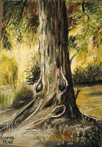 Baum, Wald, Baumrinde, Zeichnungen