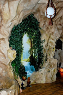 Magie, Höhle, Raumausstattung, Raumdesign