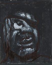 Dunkel, Licht, Portrait, Gesicht