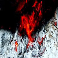 Holz, Asche, Hitze, Ofen