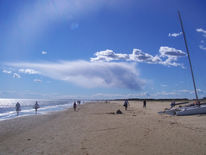 Menschen, Strand, Himmel, Meer