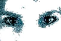 Gesicht, Augen, Iris, Wimpern