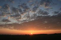 Feld, Himmel, Sonne, Wolken