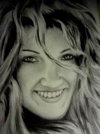 Frau, Gesicht, Zeichnungen
