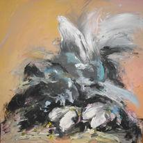 Malerei, Acrylmalerei, Fliegen