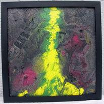 Sonne, Vulkan, Abstrakt, Malerei