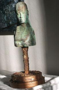 Krieg, Kriegerin, Skulptur, Amazone
