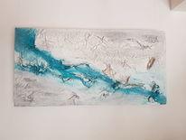 Fluss, Struktur, Abstrakt, Türkis