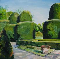 Garten, Barock, Hecke, Malerei