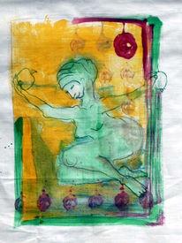 Figur, Apfel, Zeichnungen, Pflanzen