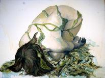 Kelp, Frau, Malerei, Menschen