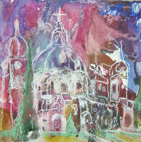Kloster, Gebäude, Landschaft, Herbst