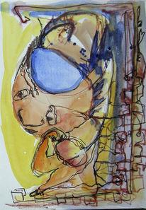 Figur, Gelb, Struktur, Verstrickung