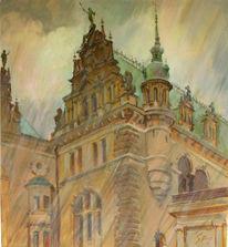 Rathaus, Hamburg, Straße, Grafik