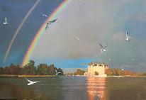 See, Schwerin, Möwe, Regenbogen