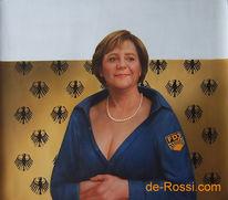 Chef, Merkel, Frau, Karikatur