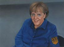 Merkel, Portrait, Malerei, Chef