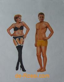 Merkel, Westerwelle, Malerei, Figural