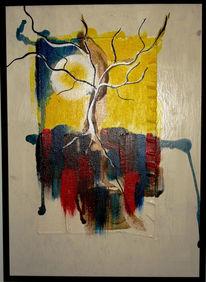 Malerei, Abstrakt, Erkenntnis, Baum