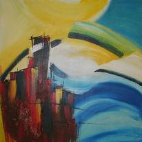 Malerei, Abstrakt, Tsunami