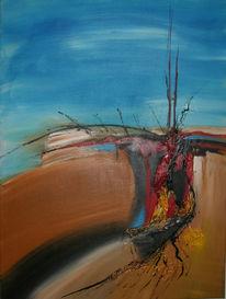 Malerei, Abstrakt, Vulkan