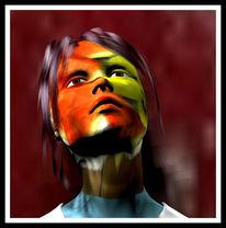 Farben, Portrait, Gesicht, Mimik