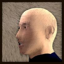 Kopf, Dunkel, Charakter, Model