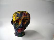 Kopf, Ton, Acrylmalerei, Figur