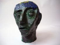 Ton, Acrylmalerei, Grün, Blau