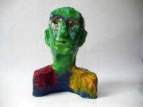 Kopf, Ton, Figur, Acrylmalerei