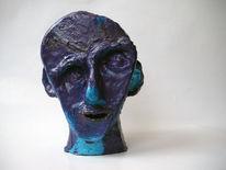 Figur, Ton, Acrylmalerei, Blau