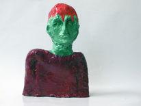 Rot, Figur, Grün, Kopf