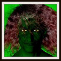 Schwarz, Parameter, Portrait, Gesicht