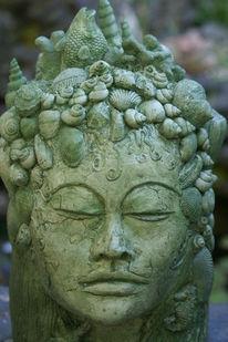 Meerjungfrau, Skulptur, Wassergöttin, Plastik